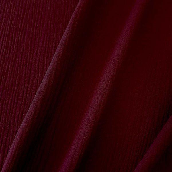 Stoff Baumwolle Musselin Mulltuch dunkelrot bordeauxrot uni 0,5