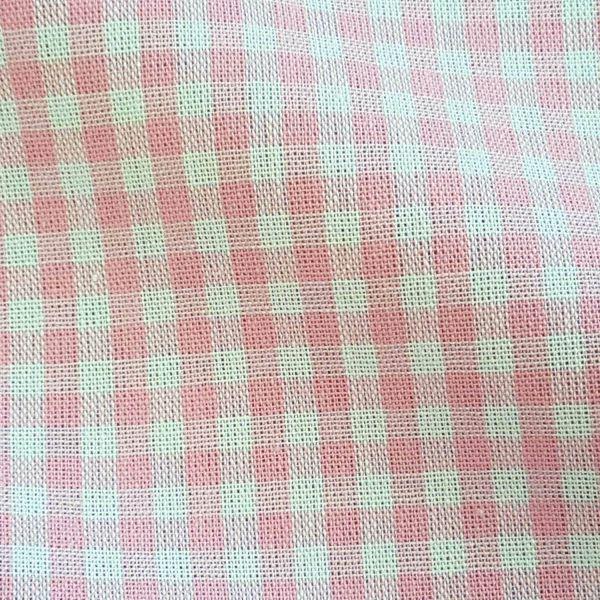 Stoff Baumwolle Vichykaro rosa weiß 4 mm kariert Karo Meterware 0,5