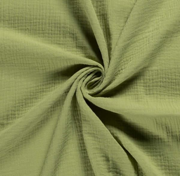 Stoff Baumwolle Musselin Mulltuch uni grün 0,5