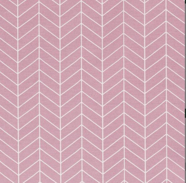 Stoff Baumwolle Meterware dunkelrosa beere Grafik Linien 0,5