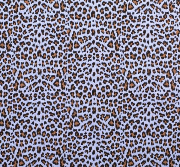 Stoff Meterware Baumwolle Musselin Leo blaugrau beige animal print 0,5 Sonderpreis