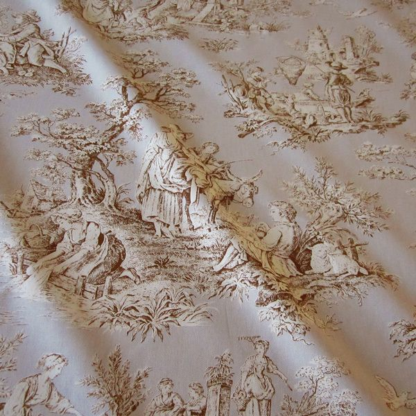 Stoff Toile de Jouy kitt Rips Country 2,80m breit