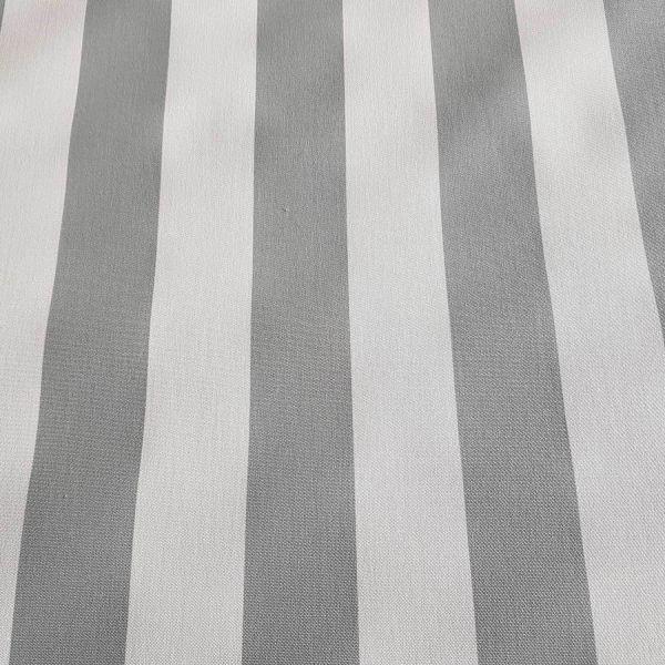 Meterware Markisenstoff grau weiß gestreift Streifen Sonnensegel Sichtschutz