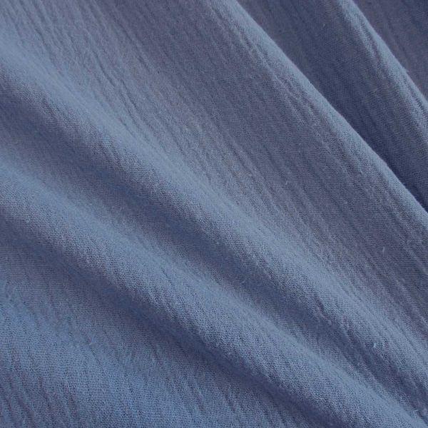 Stoff Baumwolle Musselin Mulltuch jeansblau uni