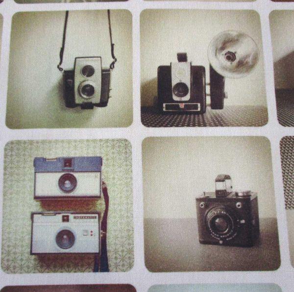 Stoff Baumwolle Kameras Fotoapparate nostalgisch retro