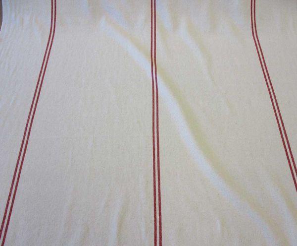Stoff Baumwolle Panama stabil natur Streifen rot Josephine Frankreich