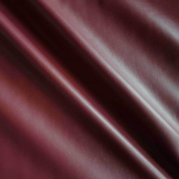 Stoff Meterware Kunstleder Nappa bordeaux dunkelrot Lederimitat Bezugsstoff Möbel Taschen Rucksack