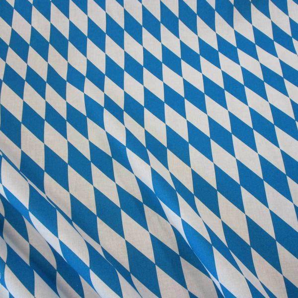 Stoff Baumwolle Bayernraute Raute blau weiß Oktoberfest