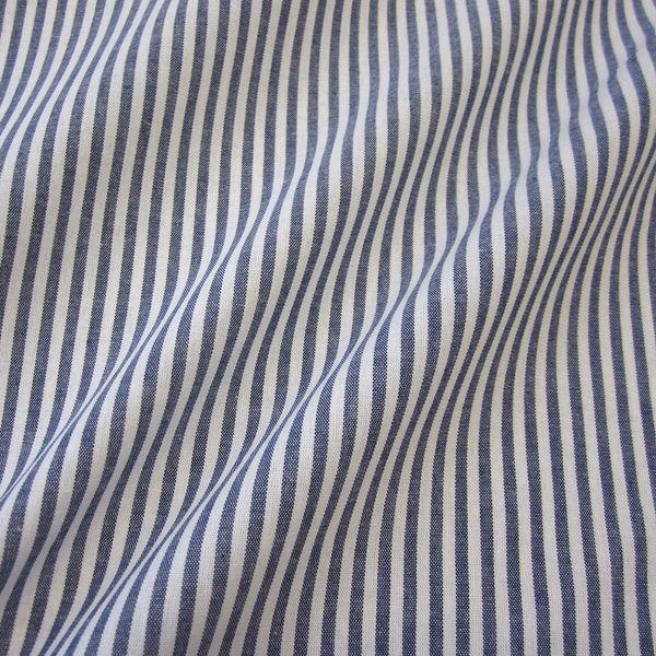 Stoff Baumwolle marine weiß Streifen 4mm gestreift durchgewebt
