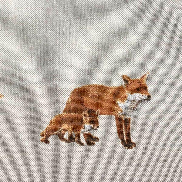 Stoff Meterware Baumwolle pflegeleicht natur Fuchs 0,5
