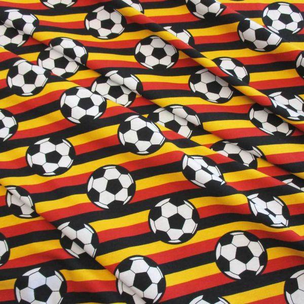 Stoff Meterware Jersey Fussball EM WM Deutschland