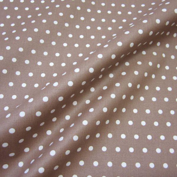 Stoff beschichtet Punkte PEAS nougat weiß Regenjacke Tischdecke