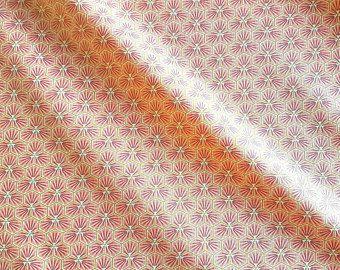 Stoff Baumwolle rosa koralle Blüten Waben sechseck grafisch Riad 0,5