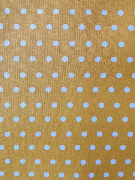 Stoff beschichtet Punkte PEAS senfgelb weiß Regenjacke Tischdecke 0,5