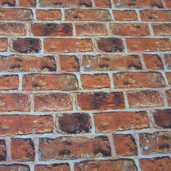 Stoff Ziegelstein Mauer Klinker Fotodruck Stein