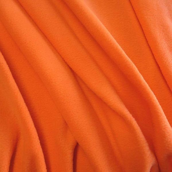 Stoff Meterware Polar Fleece neon orange weich warm kuschelig antipilling Warnfarbe leuchtend