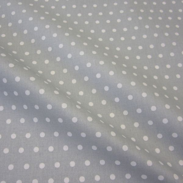 Stoff beschichtet Punkte PEAS hellgrau weiß Regenjacke Tischdecke 0,5