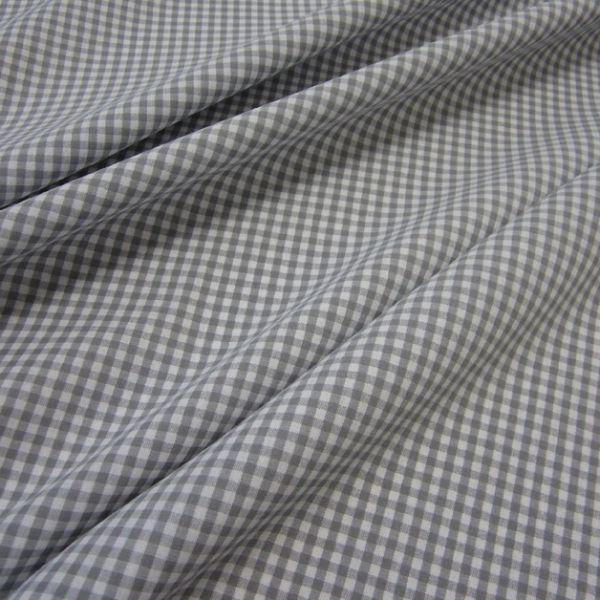 Stoff Baumwolle Vichykaro grau weiß 4 mm kariert Karo Meterware