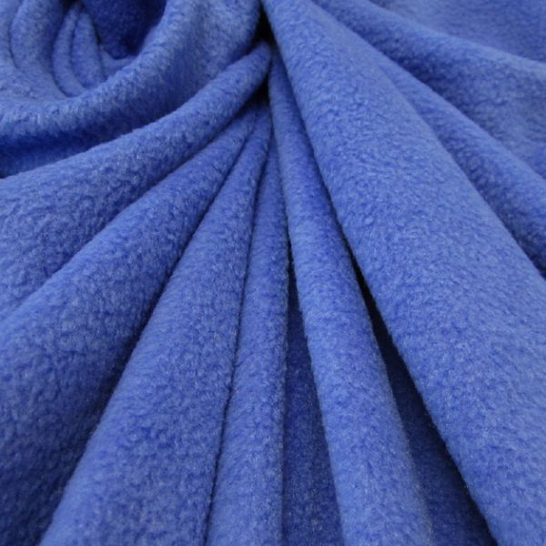 Stoff Meterware Polar Fleece royal weich warm kuschelig antipilling