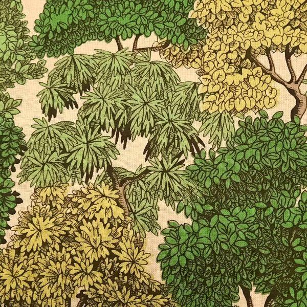 Stoff Baumwolle Wald Bäume Urwald grün 0,5