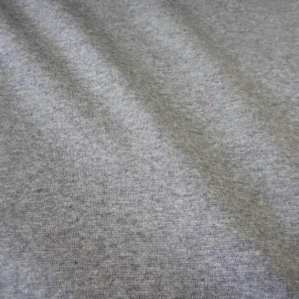 Kurzstück Bündchenstoff Jersey Schlauchware hellgrau grau meliert Ökotex 0,50m x 0,36m