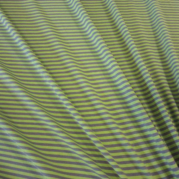 Stoff Baumwolle Jersey kiwi grau Streifen Ringel gestreift Meterware