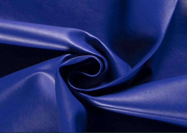 Stoff Meterware Kunstleder Nappa royalblau Lederimitat Bezugsstoff Möbel Taschen 0,5