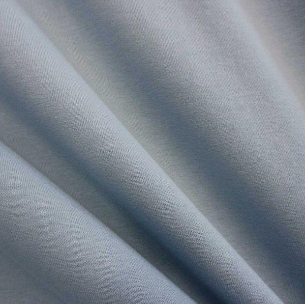 Stoff Baumwolle Sweatshirt French Terry eisblau hellblau