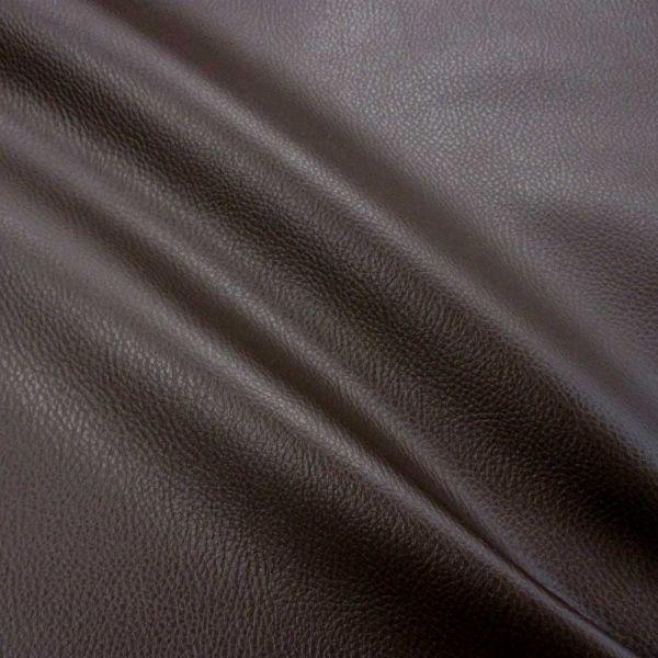 Meterware Kunstleder Nappa dunkelbraun Möbelbezug Taschen