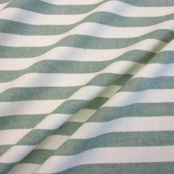 Stoff Baumwollstoff Streifen grün weiß Flanell 1,5cm weich Biber-Copy