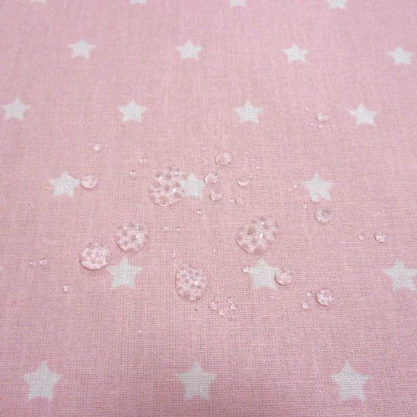 Stoff beschichtet Sterne rosa weiß Wachstuch Tischdecke 0,5