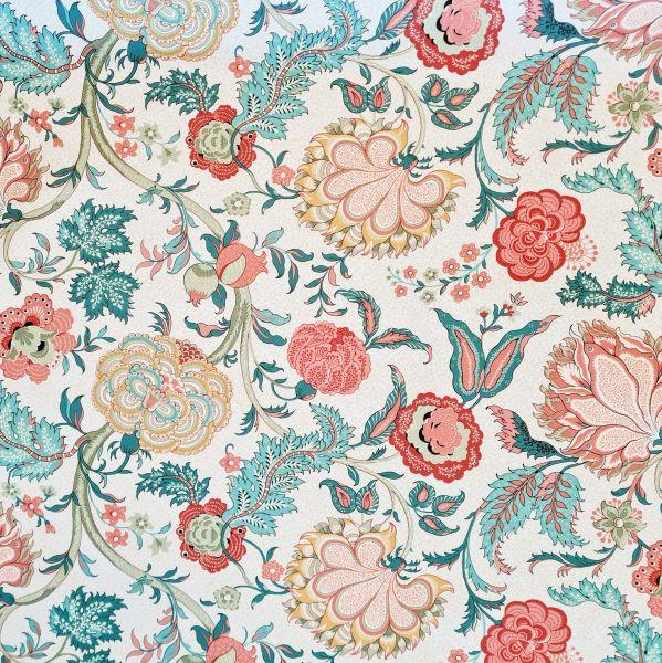 """Stoff Baumwolle """"Jaipur"""" indisches Blumenmuster 0,5"""