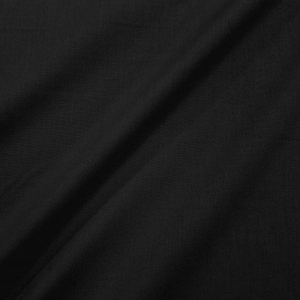 Stoff Baumwolle Fahnentuch schwarz uni 0,5