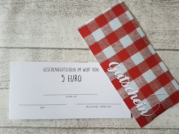 GUTSCHEIN über 5€