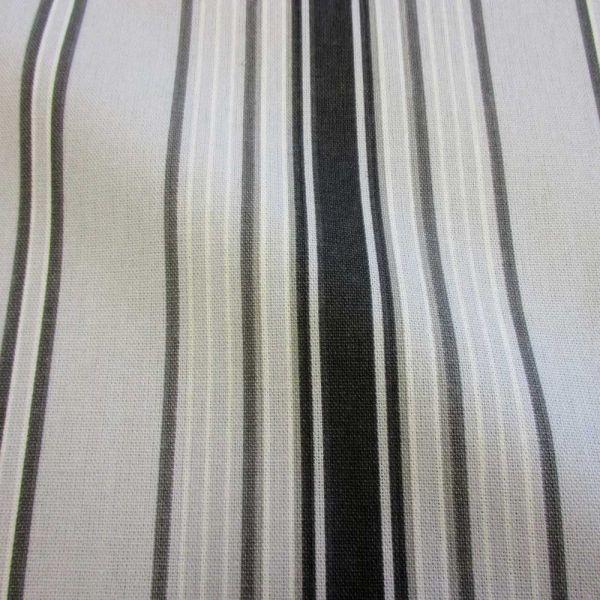 Stoff Baumwolle 280cm breit Streifen in Grautönen Dekostoff