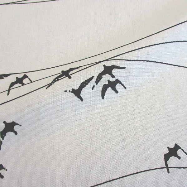 """Stoff Baumwolle Zugvögel Linien schwarz weiß """"Flyttfalgar"""""""
