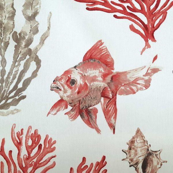 Stoff Baumwollstoff Korallen Fische Kadhoo 0,5