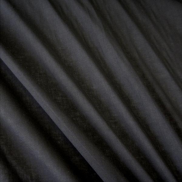 Stoff Meterware Baumwolle Batist schwarz leicht Voile