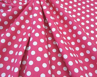 Stoff Baumwollstoff Punkte pink weiss M 8 mm
