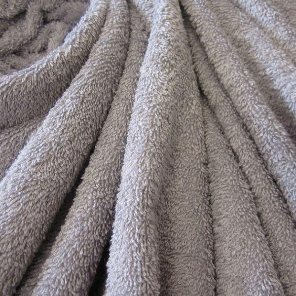 Stoff Meterware Baumwolle Frotté Frottee grau hellgrau perlgrau weich stabil