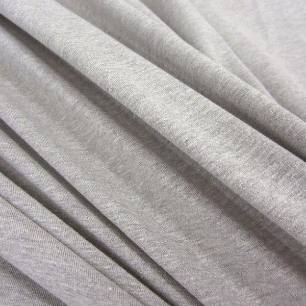 Stoff Baumwolle Jersey grau hellgrau meliert