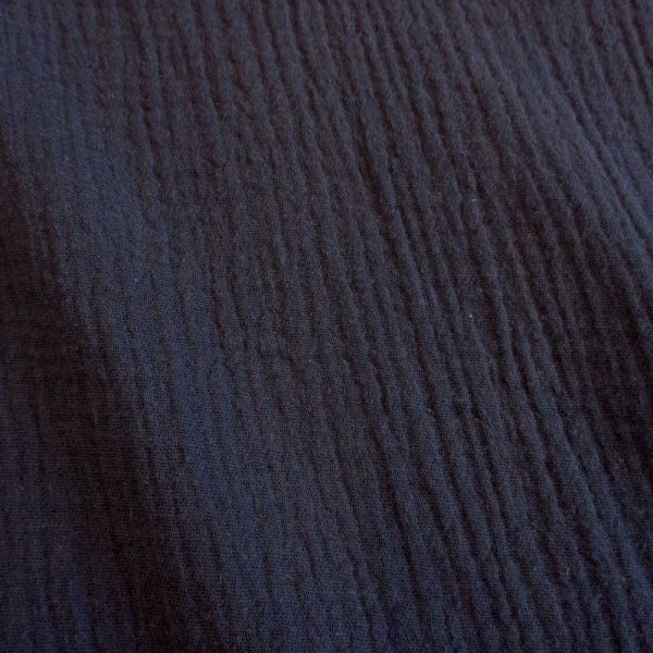 Stoff Baumwolle Musselin Mulltuch uni marineblau dunkelblau