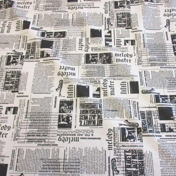 Stoff beschichtet wasserfest Zeitung schwarz weiss