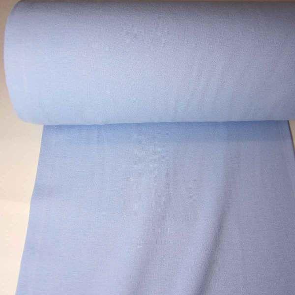 Bündchenstoff Jersey Schlauchware hellblau blau Ökotex100