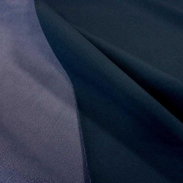 Stoff Meterware Softshell Doubleface marine jeansblau Outdoor