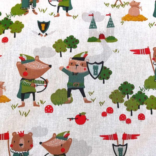 "Stoff Baumwolle ""Robin"" Robin Hood Kinderstoff 0,5"