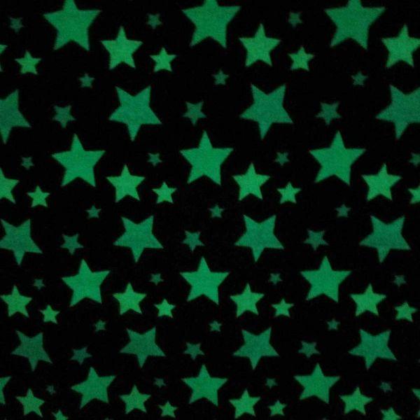 Plaid Kuscheldecke Tagesdecke grau Stern Sterne Lumineszenz leuchtend neon weich