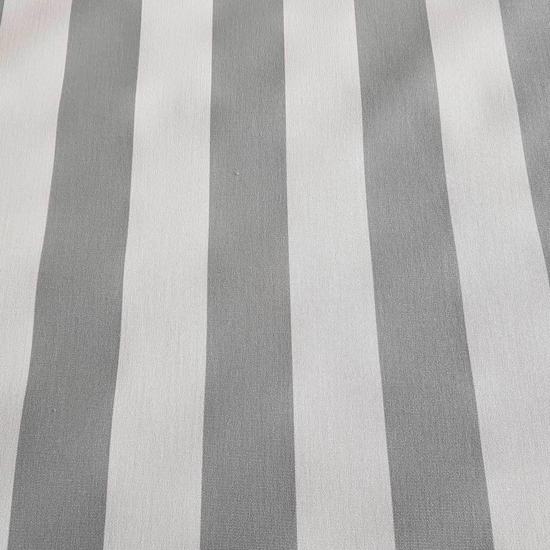 Meterware Markisenstoff Grau Wei Gestreift Streifen