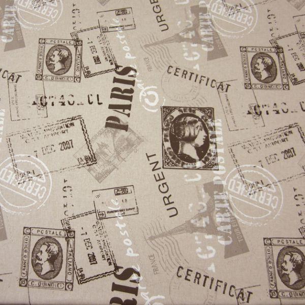 Stoff Poststempel Briefmarke natur schwarz Neu