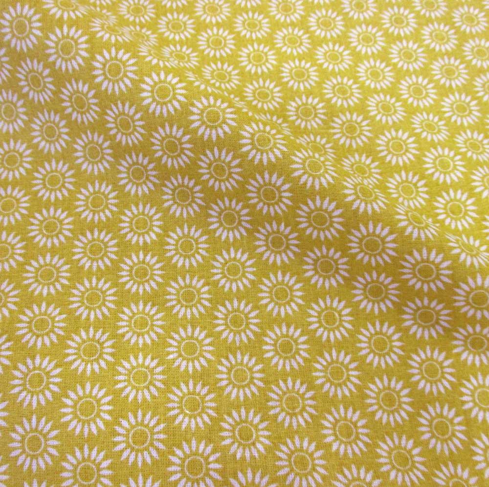 stoff baumwolle blume gelb wei senfgelb grafik werthers stoffe stoffe sind unsere leidenschaft. Black Bedroom Furniture Sets. Home Design Ideas